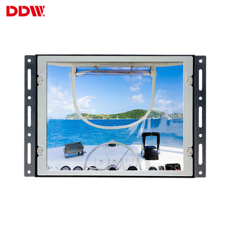 8.4 Inch LCD Advertising Player Positive Screen Industrial Automation Monitor All Metal