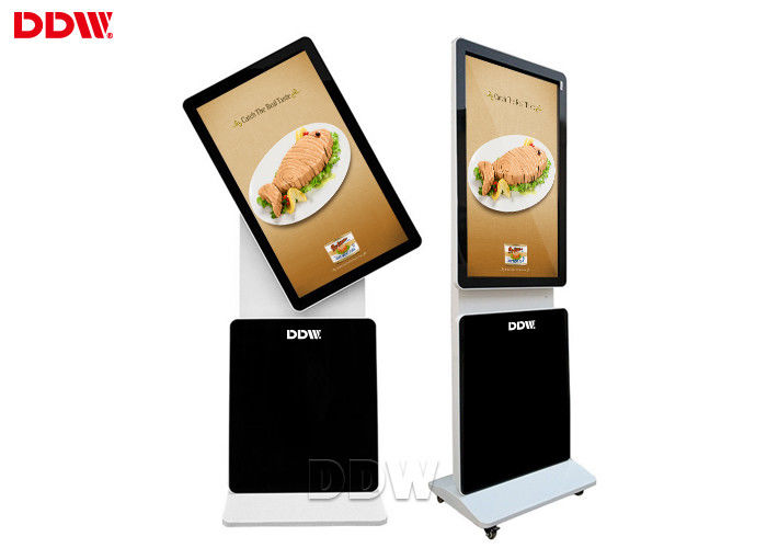 82 inch Floor Standing rotating kiosk Lcd Advertising Player 1920x1080 16.7M For Shopping Mall 500 nits DDW-AD8201S